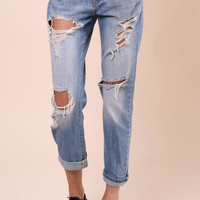 Flying Monkey Destroyed Boyfriend Jeans