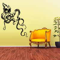 Wall Vinyl Sticker Decals Decor Jellyfish Deep Sea Ocean Fish Scuba Skull Tentacles (z1588)