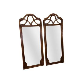 Pre-owned Stanley Furniture Faux Bamboo Mirrors - A Pair