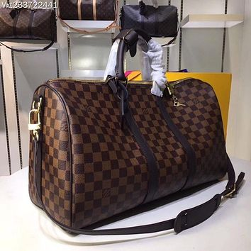 72c04c791a60 LV Louis Vuitton MONOGRAM CANVAS KEEPALL 45 SHOULDER BAG TRAVEL