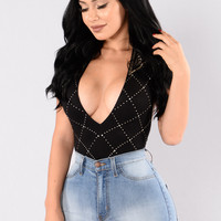Disco Inferno Bodysuit - Black