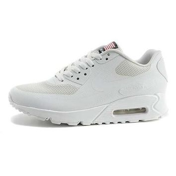 Nike Air Max 90 American Flag Men s Women s Shoes All White