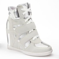 Twisted Ocean Wedge Sneakers - Women