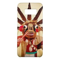 Cute, red and brown, funny face kachina doll photo Case-Mate samsung galaxy s8 case