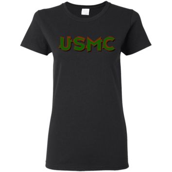 United States Marine Corps Poster : Gildan Ladies' 5.3 oz. T-Shirt