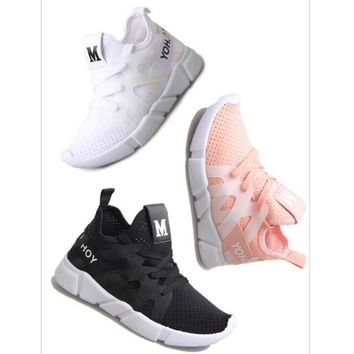 One-nice™ M Casual shoes breathable women's shoes flat skid shoes white
