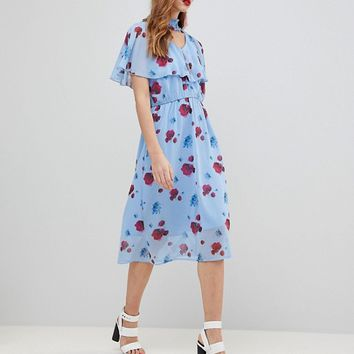 Y.A.S Poppy Print Woven Dress at asos.com