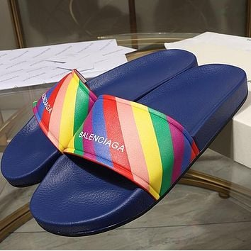 Balenciaga Rainbow slippers