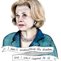 Lucille Bluth watercolor portrait PRINT Arrested Development illustration