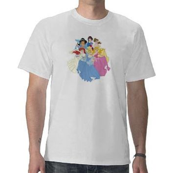Disney Princesses Cinderella Ariel Jasmine Aurora Shirt from Zazzle.com