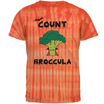ONETOW Halloween Vegetable Broccoli Count Broccula Dracula Funny Mens T Shirt