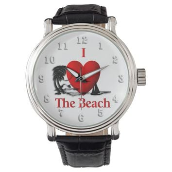 I Heart The Beach Wristwatches