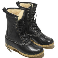 Women's Signature Tumbled-Leather L.L.Bean Boots, 10 Shearling-Lined | Free Shipping at L.L.Bean