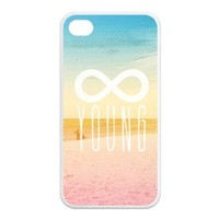 Treasure Design Forever Young APPLE IPHONE 4or4s Best Silicone Case