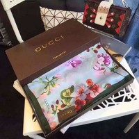 ICIKJ1A Gucci fashion flower print hot soft winter accessories scarf the shawl silk scarves