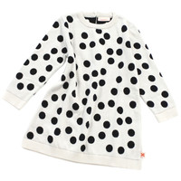 TinyCottons Black & White Dots Dress