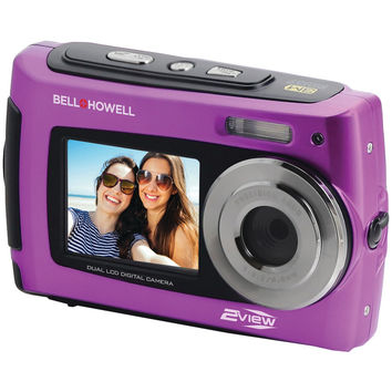 Bell+howell 2view18 Dual-screen Waterproof Hd Camera (purple)