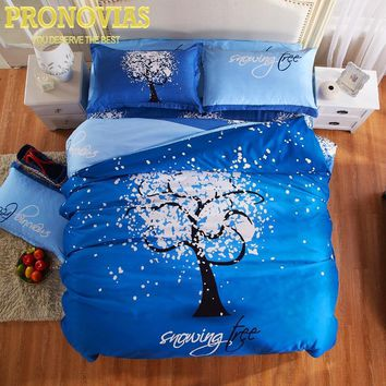 Pronovias nordic trees bedding set 4pcs duvet/doona cover bed sheet pillow cases queen double full size