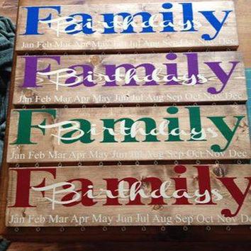 Family Birthday board- Vinyl