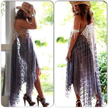 Gypsy Tunic Dress, Wanderlust, Bohemian Magnolia lace Pearl, Boho dresses Stevie Nicks Style, Festival clothing, True Rebel clothing Sm