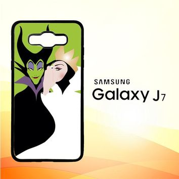 Evil Queen And Maleficent X4713 Samsung Galaxy J7 Edition 2015 SM-J700 Case