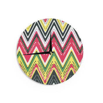 "Heidi Jennings ""Jamaican Me Crazy"" Yellow Red Wall Clock"