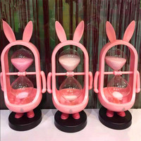 1Pcs 21x9cm Fashion 15 Minutes Sandglass Cartoon Lopunny Totoro Bear Hourglass Timer Clock Xmas Toys Birthday Gift Home Decor