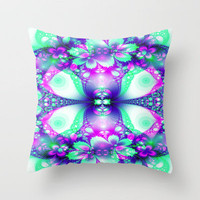 Mint Medley Throw Pillow by Alice Gosling | Society6