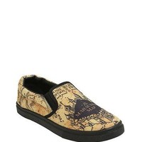 Harry Potter Marauder's Map Slip-On Sneakers