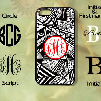 Monogram Aztec Pattern-iPhone 5, 5s, 5c, 4s, 4 case, Ipod touch 5, Samsung GS3, GS4 case-Silicone Rubber or Hard Plas