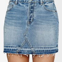 PacSun Blue Let Down Hem Skirt at PacSun.com
