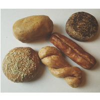 Primitive Miniature Fake Bread Loaf Scented Farmhouse Fake Food