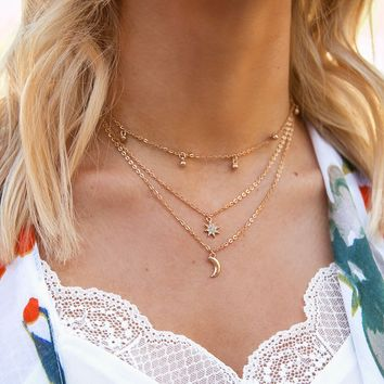 Moonlighter Gold Layered Necklace