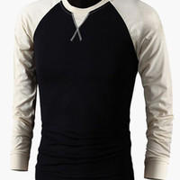 Block Long-Sleeve Pullover Sweater