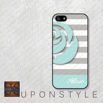 Phone Cases, iPhone 5S Case, iPhone 5 Case, iPhone 5C Case, iPhone 4 case, iPhone 4s case, Floral Stripe, Case for iphone No-5D0031