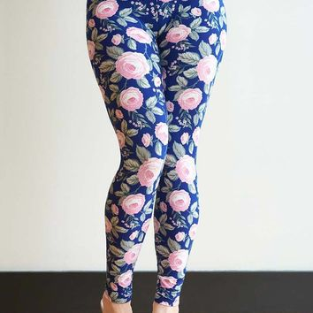 A Rose Without a Thorn Print Leggings- One Size!