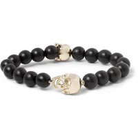 Luis Morais - Gold-Plated and Ebony Bead Bracelet | MR PORTER