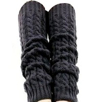 Wisedeal 1pair Women High Quailty Winter Knit Crochet Fashion Leg Warmers Legging 5 Colors to send at random :...