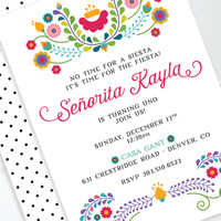 Fiesta Birthday Invitation, Mexican Invitation, Fiesta Party, Cinco De Mayo, 1st Birthday, Bridal Shower