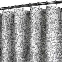 "Park B. Smith® Rococo Scroll Silver 72"" x 72"" WaterShed® Shower Curtain"