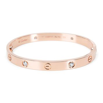 Cartier Love Diamond Bracelet in 18K Rose Gold