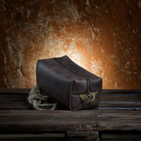 Dopp kit by Kruk Garage Travel kit Make up bag Toiletry bag Necessairies bag Leather Mens toiletry bag Leather pouch FREE PERSONALIZING