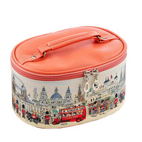 Household Essentials Grooming Travel Cosmetic Bag PU Makeup Organizer London