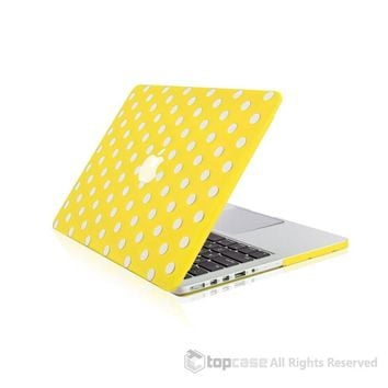 """Yellow Polka Dot Design Ultra Slim Light Weight Hard Case Cover for Apple MacBook Pro 13.3"""" with Retina Display Model: A1425 and A1502"""
