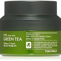 TONYMOLY The Chok Chok Green Tea Watery Cream, 2 fl.oz.