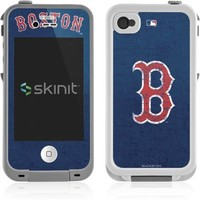 MLB Boston Red Sox - Solid Distressed Vinyl Skin for Lifeproof for Apple iPhone 4 / 4s