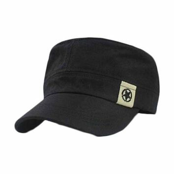 Bonnet Femme Fashion Unisex Flat Roof Hat Cadet Patrol Bush Hat Baseball Field Baseball Cap