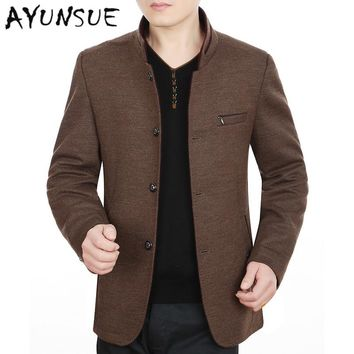 Casual Autumn Spring Jackets For Men Slim Plus Size 5XL Wind Breaker Mens Jackets And Coats Wool  Bombers Homme Outwear FYY279