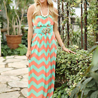 Spring Picnic Chevron Dress