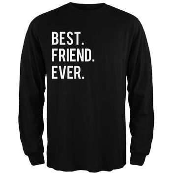 Valentine's Day Best Friend Ever Black Adult Long Sleeve T-Shirt